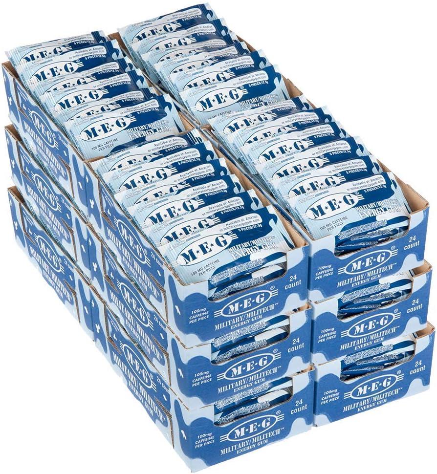 MEG - Military Energy unisex Gum 100mg Increa + Piece Caffeine of Per 55% OFF