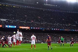 Laminated 36x24 Poster: Watch Lionel Messi Scores Perfect Kick as Barcelona Beats Sevilla at Camp NOU