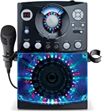 Singing Machine SML385BTBK Karaoke System with LED Disco Lights, CD+G, and Microphone, Black