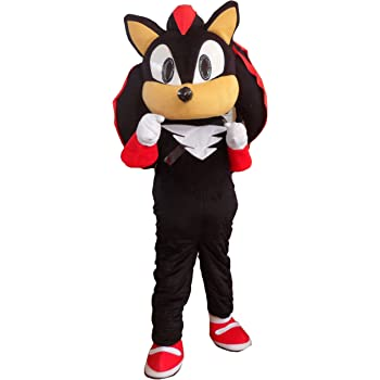 Amazon Com Procostume Shadow The Hedgehog Black Sonic Mascot Costume Fancy Dress Outfit Suit Epe Clothing