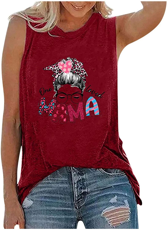 POLLYANNA KEONG Women Tank Tops, Womens Cute Sunflower Printed Vest Sleeveless Blouse Casual Summer Tank Top