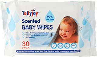 Tollyjoy Scented Baby Wipes 30s x 8, 0.5 kilograms