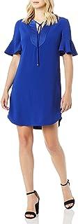 فستان دوناتيلا بكشكشة قصير الأكمام للنساء من ترينا ترك