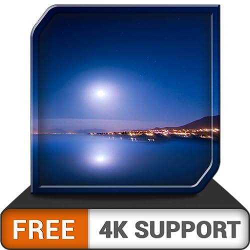 Amazing Moon Rise HD GRÁTIS - Sente-se, relaxe e aproveite a incrível Lua surgindo na sua TV HDR 4K, TV 8K e dispositivos de fogo como papel de parede e tema de mediação e paz e Tema de férias de Nata