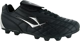 mens Mirak Mens Forward Lace Moulded Grip Sole Football Rugby Boot Black Man-Made