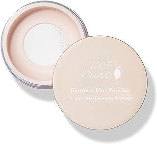 100% PURE Bamboo Blur Powder, Translucent, Setting Powder, Loose Face Powder for Setting Makeup, Lightweight, Long Lasting Face Makeup, Vegan Makeup - 0.2 Oz