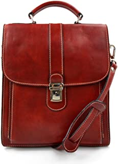 Hobo bag satchel leather shoulder bag made in Italy crossbody red sling bag