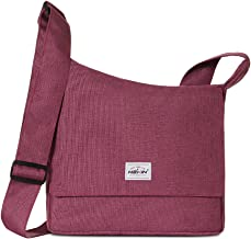 HEXIN Women's Lightweight Shoulder Bags Crossbody Purse Bag For School Everyday Shopping Casual Red