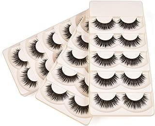 Wleec Beauty Silk Lashes Handmade False Eyelash Pack Natural Strip Lashes #S/F54 (15 Pairs/3 Pack)