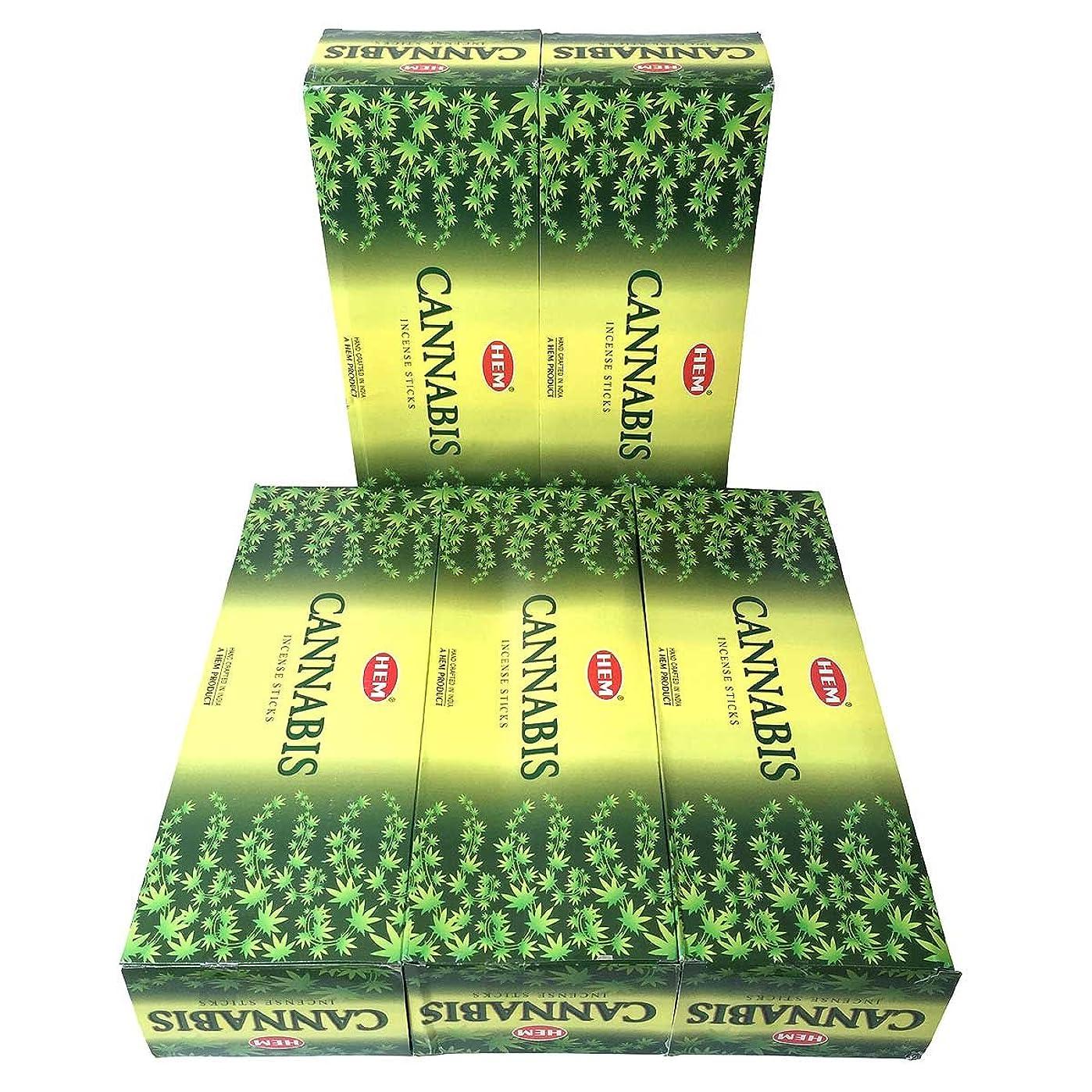 アウトドア動脈強化HEM カナビス香 スティック 5BOX(30箱)/HEM WHITE CANNABIS/ インド香 / 送料無料 [並行輸入品]