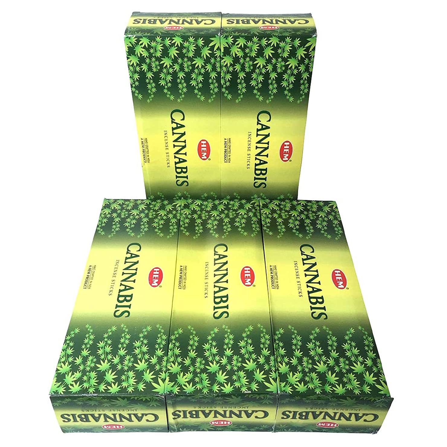 買い物に行くあえぎ膨張するHEM カナビス香 スティック 5BOX(30箱)/HEM WHITE CANNABIS/ インド香 / 送料無料 [並行輸入品]