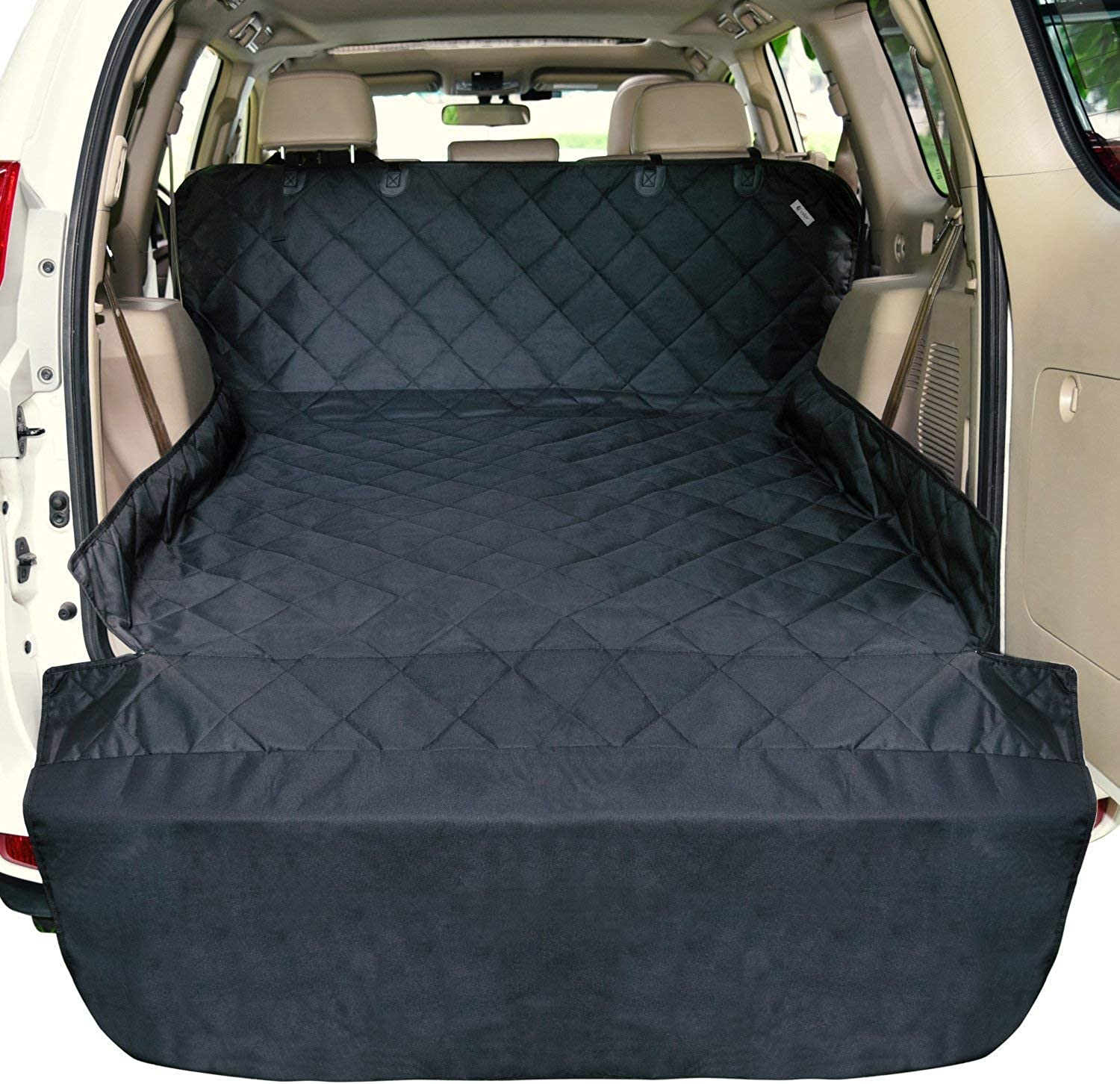 Cargo Liner for SUV's and Cars,Waterproof Material,Non Slip Backing,with Side Walls Predectors,Extra Bumper Flap Predector,Large Size  Universal Fit