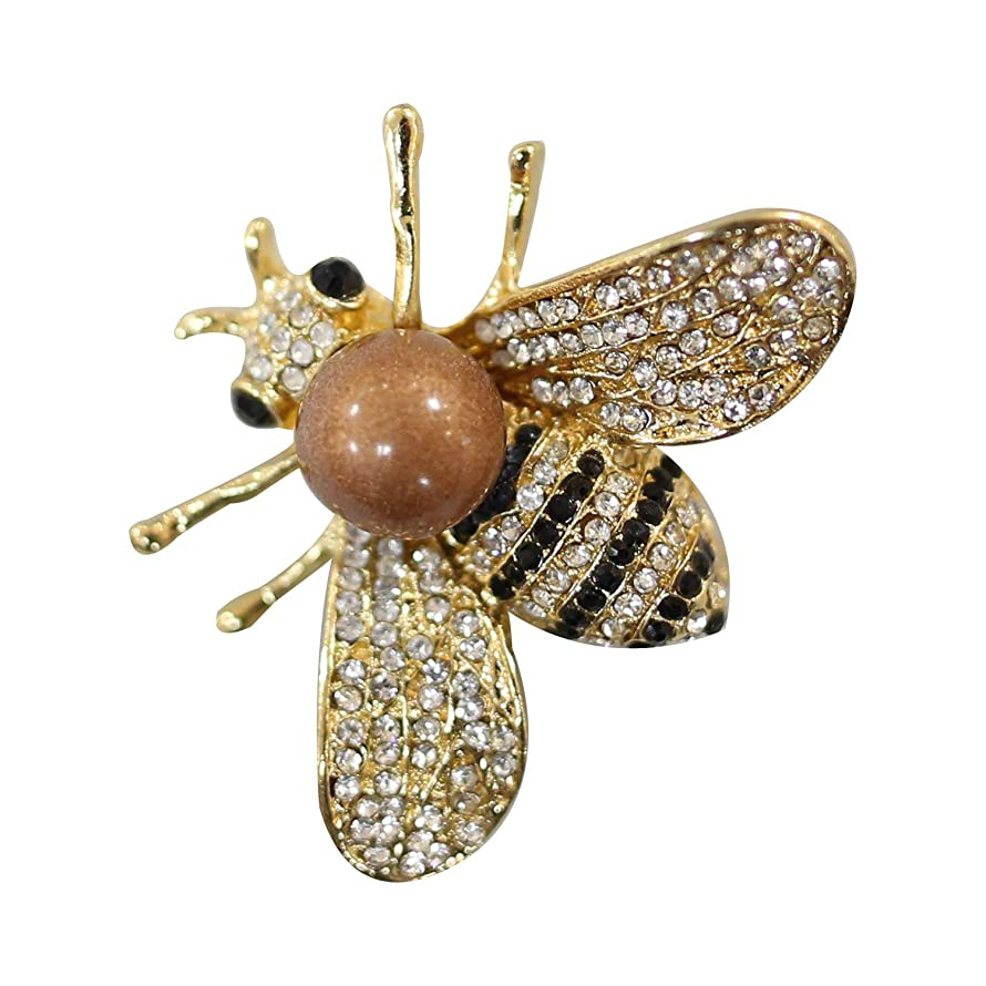 ZUOZUOYA Honey Bee Brooch for Women - 3 Colors Insect Themes with Gold,Silver and Colorful Tone Brooch Pins - Fashion Mother of Pearl Brooch Pins - Great for Wife,Sisters,Friends or Daily Wear