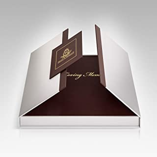 """$29 » Funeral and Memorial Guest Sign-in Book, PU Leather Hardcover, Large - Beautiful, Celebration of Life Registration Books - Burgundy with Gold Etching """"in Loving Memory"""" - for 80 Guests"""