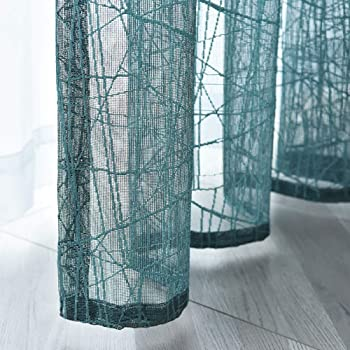 Deconovo Visillos de Salon Decorativo Diseño Bonito Cortina ...