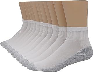 Hanes Men`s Ankle Socks, 186V12,12-Pack, 10-13, White...