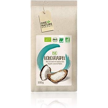 ONE NATURE organic BIO Kokosraspel, 6er Pack (6 x 200 g)