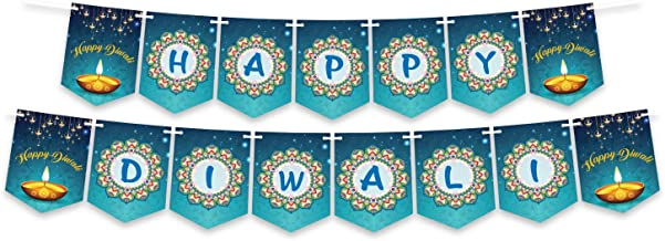 Happy Diwali Banner Decoration, Party Decoration, Bunting Banner