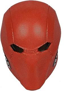 Xcoser Red Hood Mask Deluxe Helmet Full Head Adult Halloween Cosplay Costume Accessory Prop