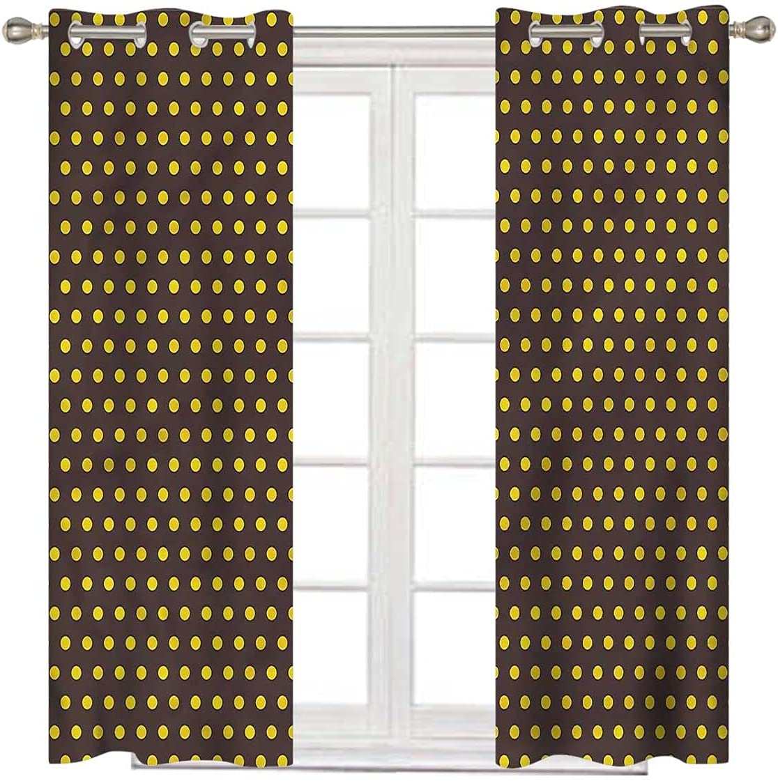 Vintage Limited time trial price Black Curtains for Bedroom Retro 63 Inch Dots Long Limited time sale