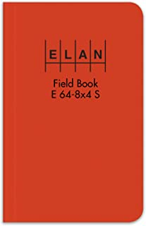 Elan Publishing Company E64-8x4S Sewn Field Surveying Book 4 5/8 x 7 1/4 Orange Stiff Cover (Pack of 12)