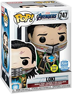Funko Pop! Marvel: Vengadores Endgame - Loki con Tesseract que brilla en la oscuridad