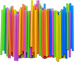 Jumbo Plastic Straws   300 Pack   Extra Wide Smoothie Drinking Straw - with Recipe E-Book - BPA-Free Straws - Bright Colors - Works for Smoothies, Juices Cocktails and More - by FUMCare