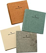 FORUSKY 4 - Pack 50 Pockets Fabric Cover Instax Wide Album 3.5x5 Photo Album for Fuji Instax Wide 210, Instax Wide 300, 5 Inch Photos (4 Pcs)