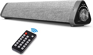 Computer Speakers, Wired and Wireless Sound Bar, Home Theater Stereo Soundbar Speaker with Remote Control for PC Cellphone Tablets Desktop Laptop