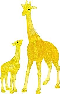 لغز تركيب قطع من الكريستال ثلاثي الابعاد الاصلي للزرافة وحيوانات الطفل من المستوى 1، 38 قطعة