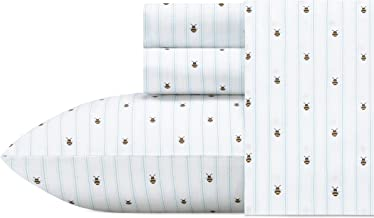 Poppy & Fritz Bumble Bees Sheet Set Queen White
