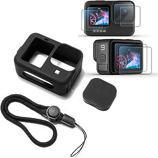 Funda protectora de silicona suave para GoPro Hero 9 Negro,