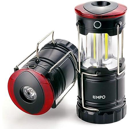 officina SUBOOS 4 modalit/à di luminosit/à emergenze auto Lanterna da campeggio ricaricabile con LED da 5000 mAh alta durata doppia potenza batterie e clip per appendere incluse escursionismo perfetta per: campeggio