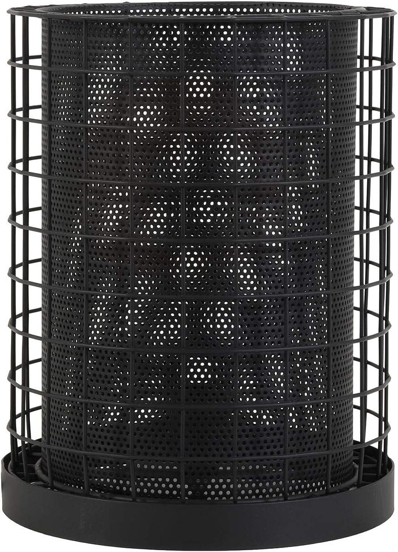 Light & Living Tischleuchte 25x34 cm CAJANA matt schwarz für E27 Leuchtmittel für Wohnzimmer Esszimmer Schlafzimmer usw.