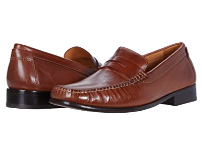 Johnston & Murphy Stoltz Penny (Tan Full Grain) Men