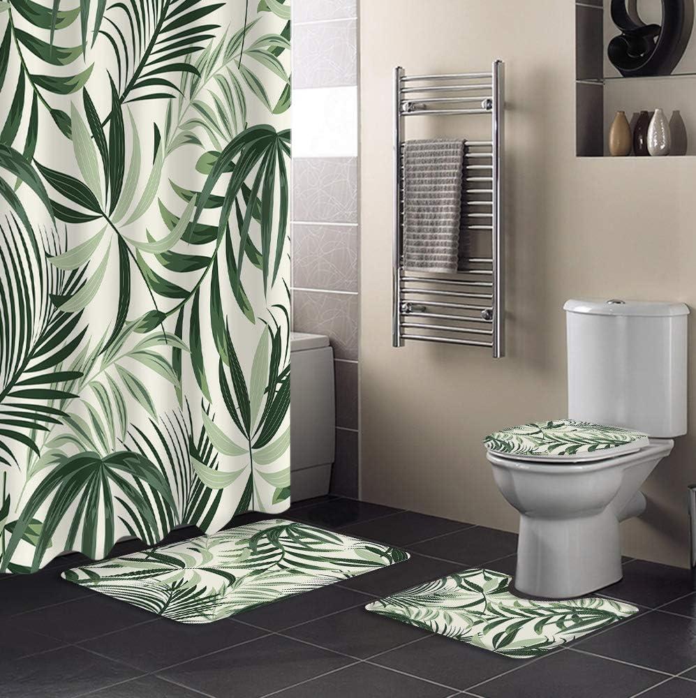 Product FAMILYDECOR 4 Pieces Shower Curtain Bathtub Popular Set Dec Bathroom for