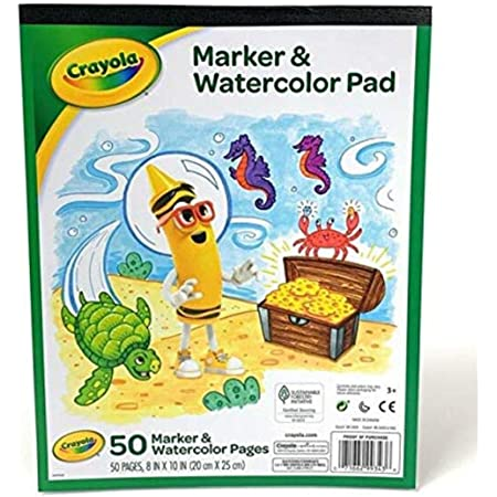 Crayola Marker and Watercolor Pad 8 x10 Inches , 50 pages White
