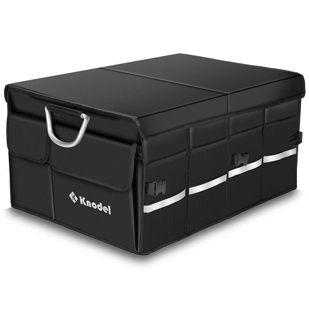 Amazon.es: Knodel Organizador de Maletero de Coche Sturdy con Cubierta Plegable, contenedor de Almacenamiento Plegable, Caja de Almacenamiento portátil multipropósito y Portador, a Prueba de Agua (XL)
