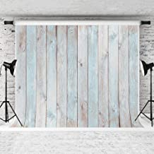 MISYOSO 9x6ft Blue Wood Backdrops for Photoshoot Vinyl Wooden Photo Backdrops Wood Wall Photo Background