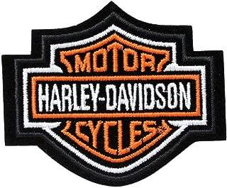 Harley-Davidson Orange Bar & Shield Patch XS 2 3/4'' x 2 1/4'' EMB302381