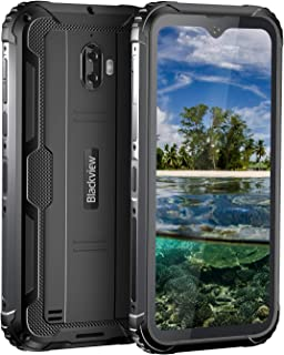 Blackview BV5900スマートフォン 本体 4G simフリー スマホ 本体 アウトドア 防水スマホ 防塵スマホ 耐衝撃スマホ Android 9.0 1300万画素+500万画素 5580mAh 3GB RAM+32GB ROM タフスマホ 携帯電話 技適認証済み AU対応不可 1年間保証付き(ブラック)