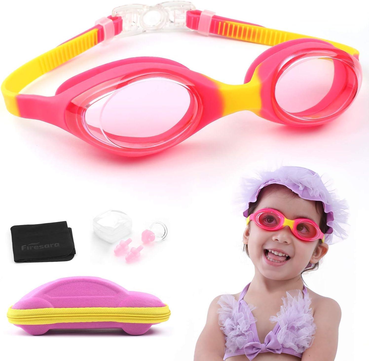 Fees free!! Firesara Swim Goggles Kids for Genuine Free Shipping Kids- Swimming Adjustabl