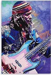 Star Poster Bass Master Jaco Pastorius 壁の絵カンバウォールアートベッドルームホームキッチンルームの装飾 Unframe 24×16inch(60×40cm)