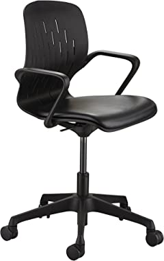 Safco Products Shell Chair, Desk Height, Black
