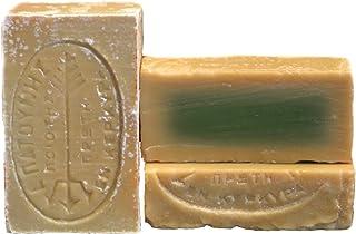 tradoro grüne Olivenölseife 2er Pack 2 x 115gr, vegane Olivenseife aus 100% Olivenkernöl, handgesiedet aus der Seifenmanufaktur Patounis, kein Parfum, keine Zusatzstoffe, ideal für Allergiker