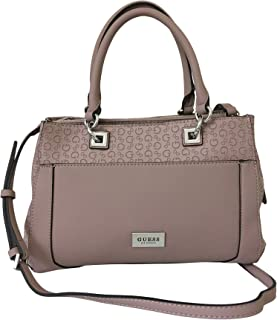 GUESS Crossbody Satchel Shoulder Purse with Polished Silver Tone Hardware Insight Se695206, Dusty Mauve