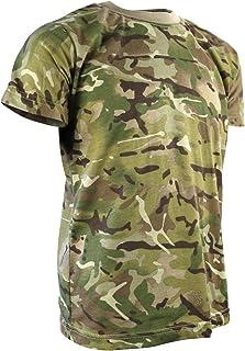 Kombat UK Kid's Camo T-Shirt, British Terrain Pattern, 9-11 Years