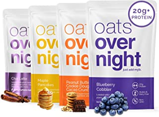Oats Overnight - Dairy Free Variety Pack (16 Pack) High Protein, Low Sugar Breakfast - Gluten Free, High Fiber, Non GMO Oa...