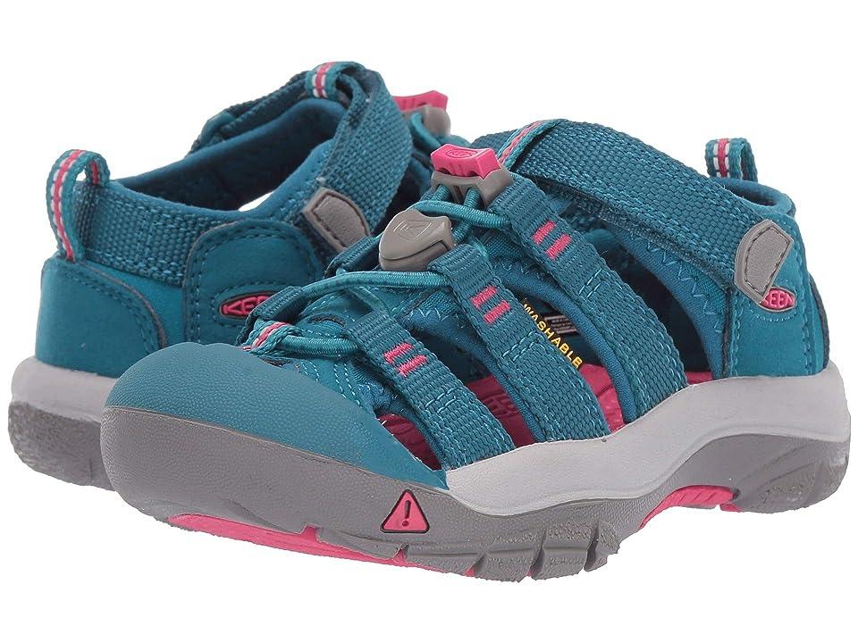 Keen Kids Newport H2 (Toddler/Little Kid) (Deep Lagoon/Bright Pink) Girls Shoes