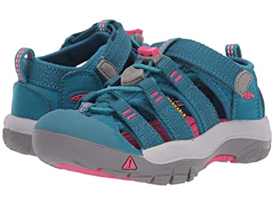 Keen Kids Newport H2 (Toddler/Little Kid) (Deep Lagoon/Bright Pink) Girls Shoes